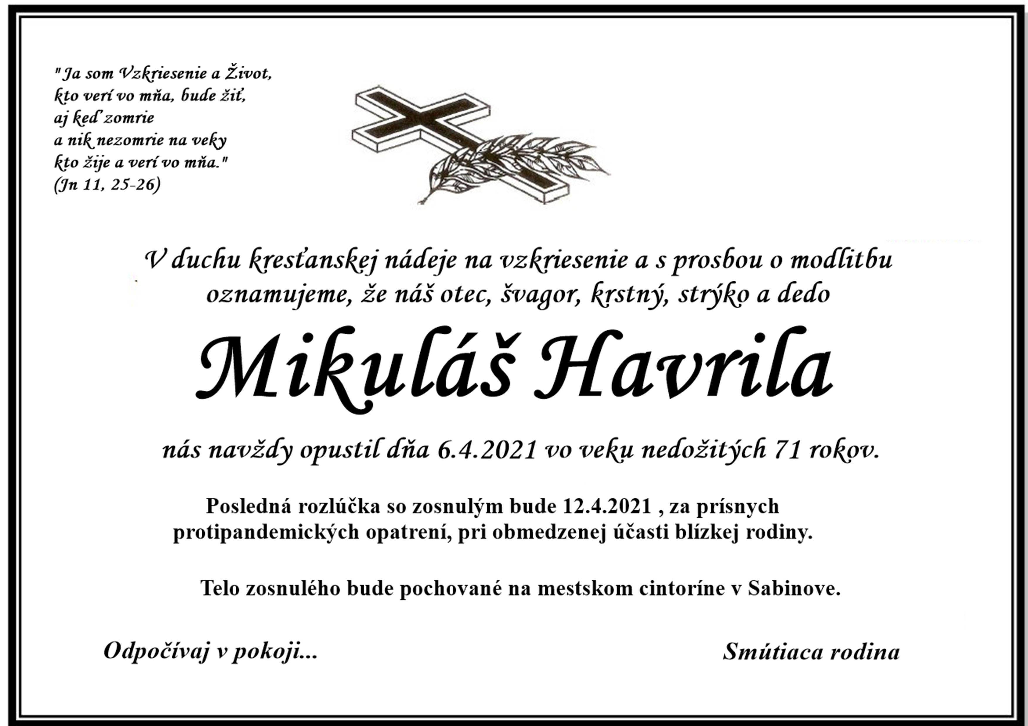Parte – Mikuláš Havrila